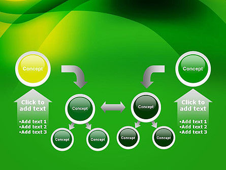 Green Abstract Surface PowerPoint Template Slide 19