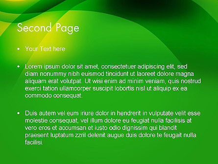 Green Abstract Surface PowerPoint Template Slide 2