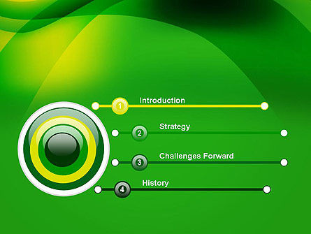 Green Abstract Surface PowerPoint Template Slide 3