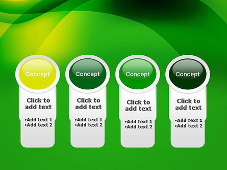 Green Abstract Surface PowerPoint Template Slide 5