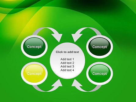 Green Abstract Surface PowerPoint Template Slide 6