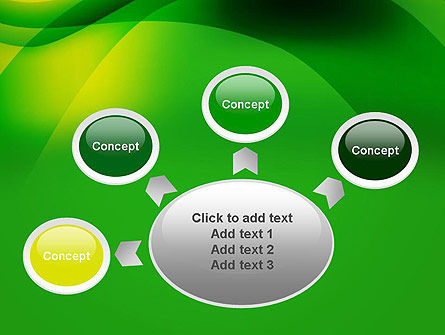 Green Abstract Surface PowerPoint Template Slide 7