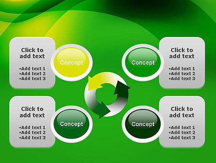 Green Abstract Surface PowerPoint Template Slide 9