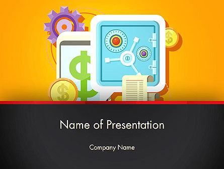 Internet Banking PowerPoint Template, 13388, Financial/Accounting — PoweredTemplate.com