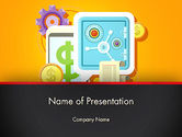 Financial/Accounting: Internet Banking PowerPoint Template #13388