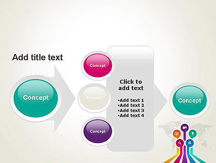 Word Map with App Icons PowerPoint Template Slide 17