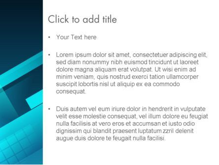 Overlapping Rectangular Turquoise Surfaces PowerPoint Template, Slide 3, 13393, Abstract/Textures — PoweredTemplate.com