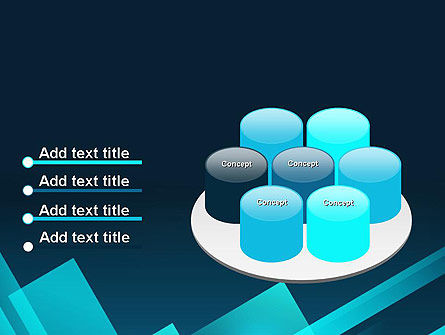 Overlapping Rectangular Turquoise Surfaces PowerPoint Template Slide 12
