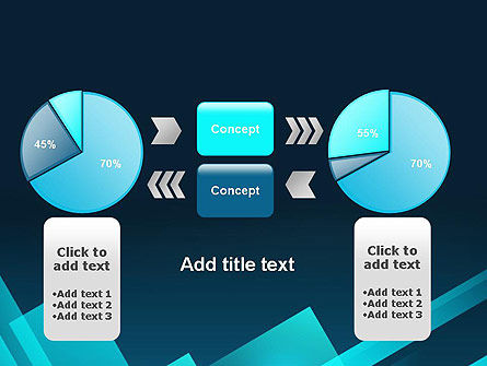 Overlapping Rectangular Turquoise Surfaces PowerPoint Template Slide 16