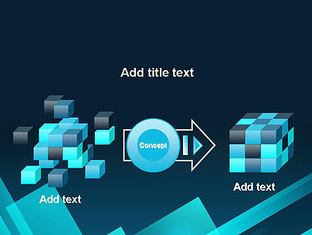 Overlapping Rectangular Turquoise Surfaces PowerPoint Template Slide 17