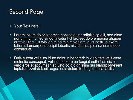 Overlapping Rectangular Turquoise Surfaces PowerPoint Template Slide 2
