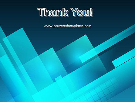 Overlapping Rectangular Turquoise Surfaces PowerPoint Template Slide 20