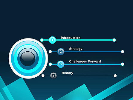 Overlapping Rectangular Turquoise Surfaces PowerPoint Template Slide 3