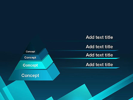 Overlapping Rectangular Turquoise Surfaces PowerPoint Template Slide 4