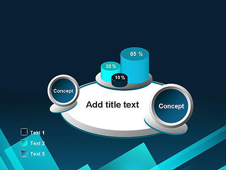Overlapping Rectangular Turquoise Surfaces PowerPoint Template Slide 6