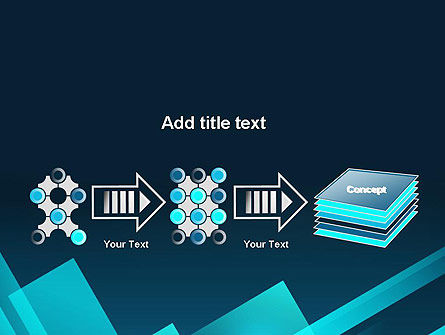 Overlapping Rectangular Turquoise Surfaces PowerPoint Template Slide 9