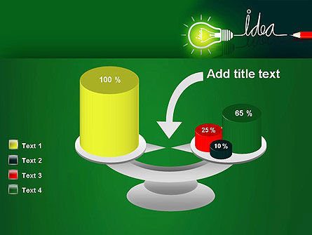 Idea Concept with Light Bulb PowerPoint Template Slide 10