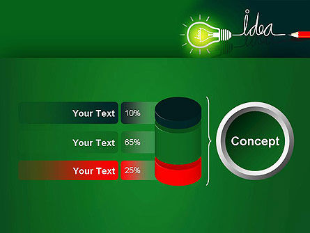 Idea Concept with Light Bulb PowerPoint Template Slide 11