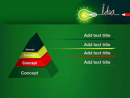 Idea Concept with Light Bulb PowerPoint Template Slide 12