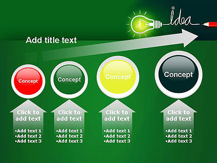 Idea Concept with Light Bulb PowerPoint Template Slide 13