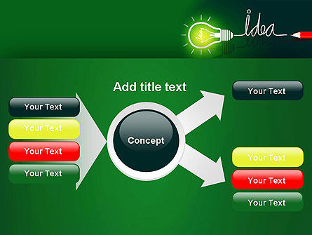 Idea Concept with Light Bulb PowerPoint Template Slide 14