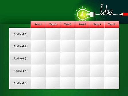 Idea Concept with Light Bulb PowerPoint Template Slide 15