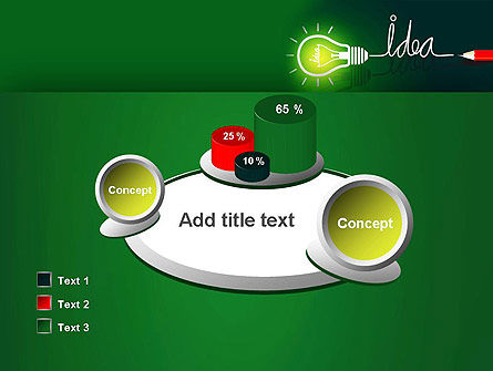Idea Concept with Light Bulb PowerPoint Template Slide 16