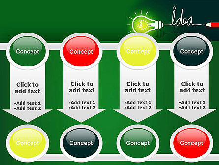 Idea Concept with Light Bulb PowerPoint Template Slide 18
