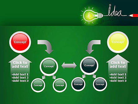 Idea Concept with Light Bulb PowerPoint Template Slide 19