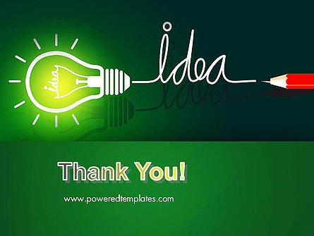 Idea Concept with Light Bulb PowerPoint Template Slide 20
