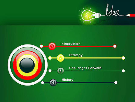 Idea Concept with Light Bulb PowerPoint Template Slide 3