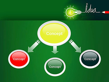Idea Concept with Light Bulb PowerPoint Template Slide 4