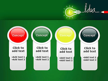Idea Concept with Light Bulb PowerPoint Template Slide 5