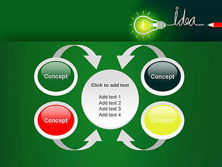 Idea Concept with Light Bulb PowerPoint Template Slide 6