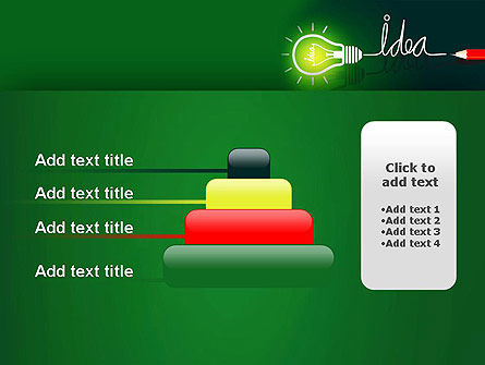 Idea Concept with Light Bulb PowerPoint Template Slide 8