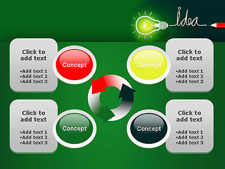 Idea Concept with Light Bulb PowerPoint Template Slide 9
