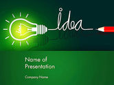 Business Concepts: Idea Concept with Light Bulb PowerPoint Template #13394