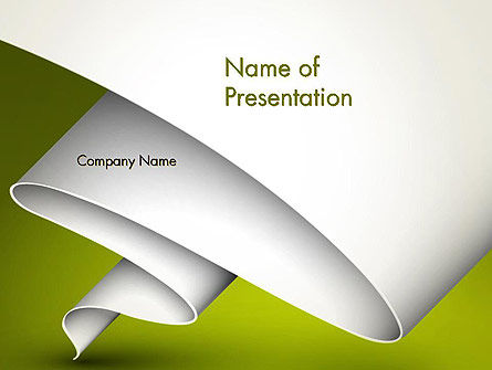Fluttering Banner Abstract PowerPoint Template
