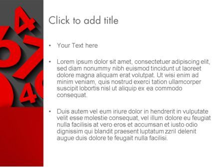 Red Numbers PowerPoint Template, Slide 3, 13396, Education & Training — PoweredTemplate.com