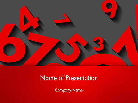 Red Numbers PowerPoint Template