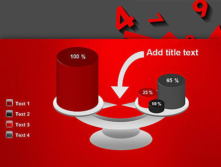 Red Numbers PowerPoint Template Slide 10