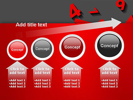 Red Numbers PowerPoint Template Slide 13
