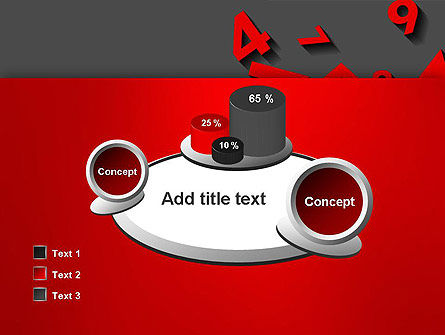 Red Numbers PowerPoint Template Slide 16