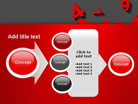 Red Numbers PowerPoint Template Slide 17