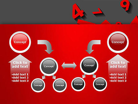 Red Numbers PowerPoint Template Slide 19