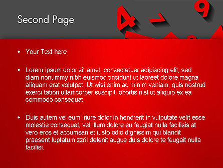 Red Numbers PowerPoint Template, Slide 2, 13396, Education & Training — PoweredTemplate.com