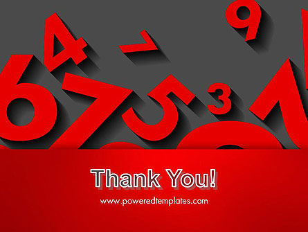 Red Numbers PowerPoint Template Slide 20