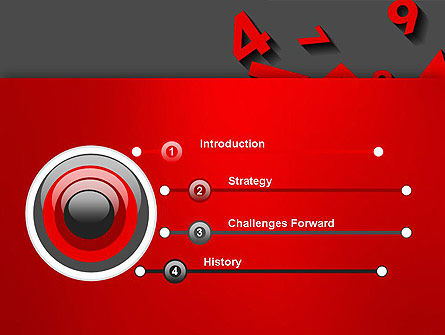 Red Numbers PowerPoint Template Slide 3