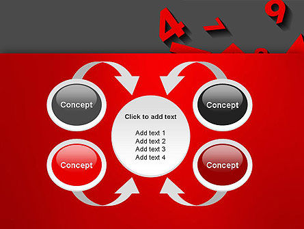 Red Numbers PowerPoint Template Slide 6