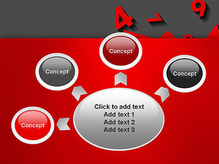 Red Numbers PowerPoint Template Slide 7